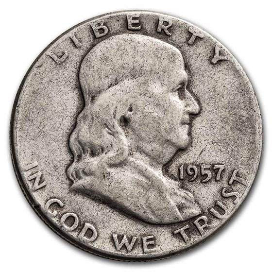 1957 Franklin Half Dollar Fine/AU