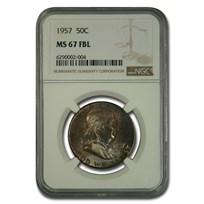 1957 Franklin Half Dollar MS-67 NGC (FBL)