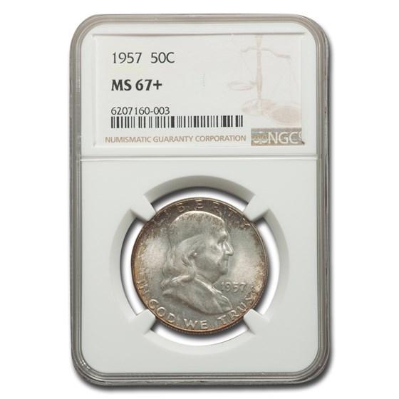 1957 Franklin Half Dollar MS-67+ NGC