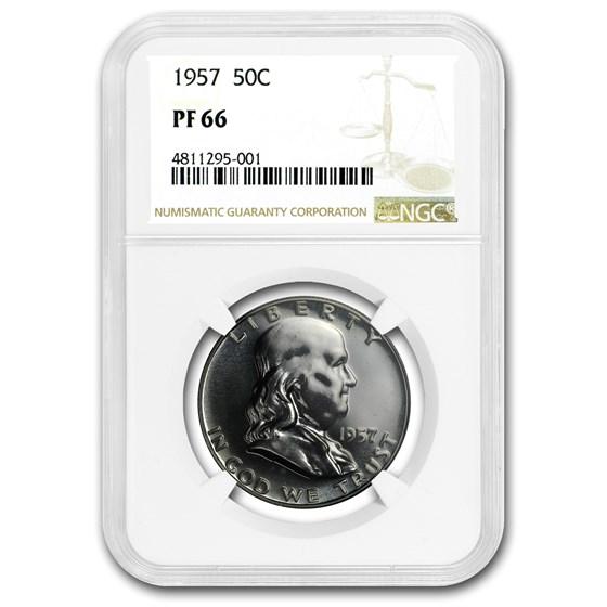 1957 Franklin Half Dollar PF-66 NGC
