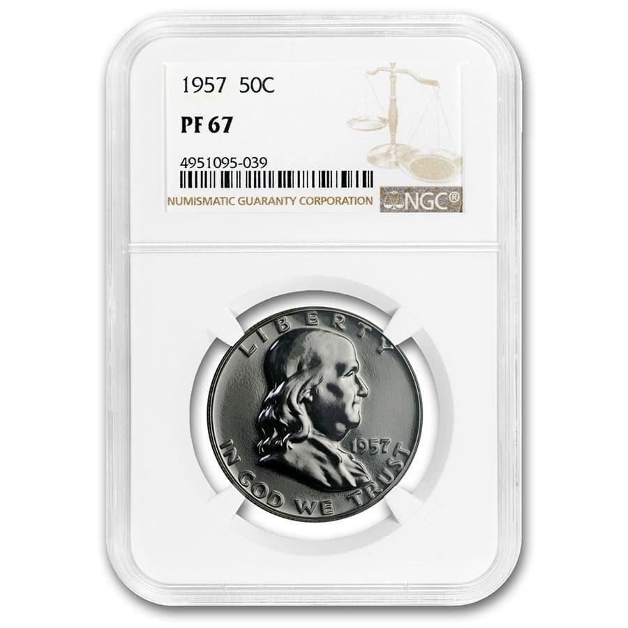 1957 Franklin Half Dollar PF-67 NGC