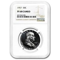 1957 Franklin Half Dollar PF-68 Cameo NGC