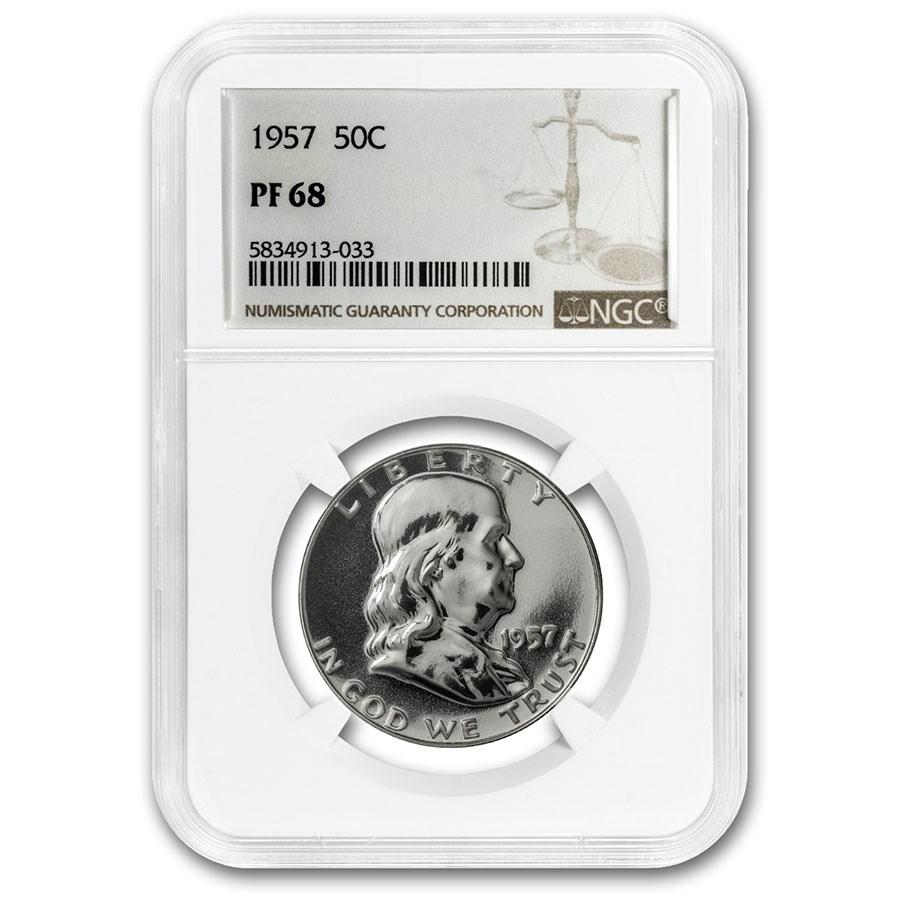 1957 Franklin Half Dollar PF-68 NGC