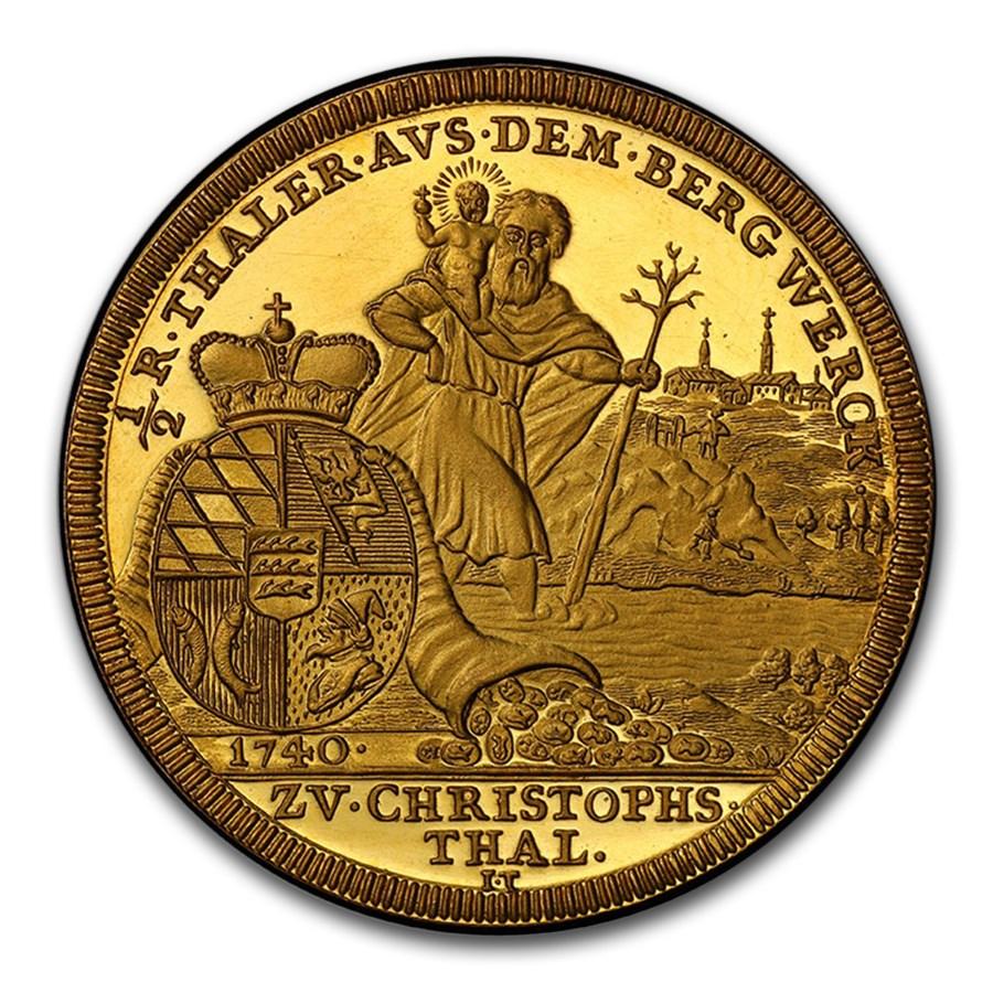 (1957) German States Wurttemberg Gold Medal 1/2 Thaler SP-64 PCGS