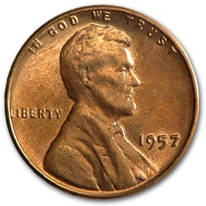 1957 Lincoln Cent BU (Red)