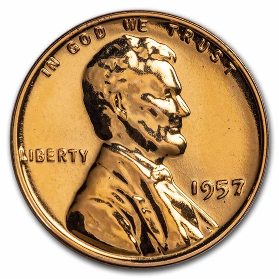 1957 Lincoln Cent Gem Proof (Red)