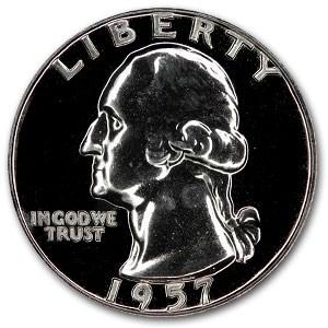 1957 Washington Quarter Gem Proof
