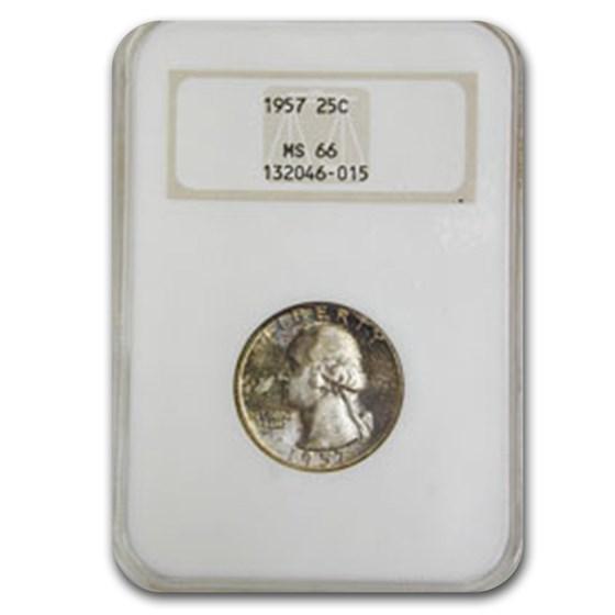 1957 Washington Quarter MS-66 NGC