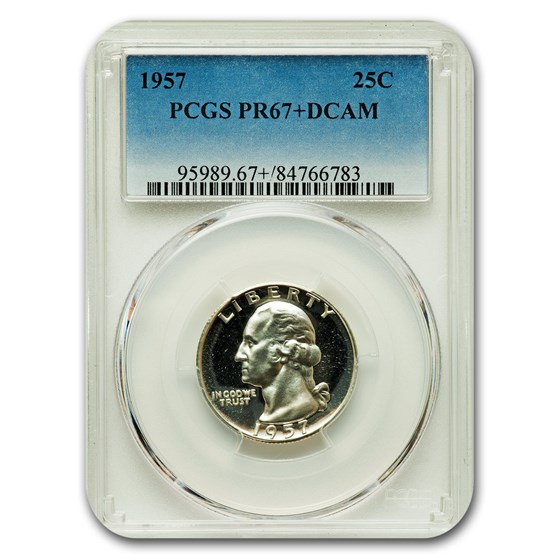 1957 Washington Quarter PR-67+ DCAM PCGS