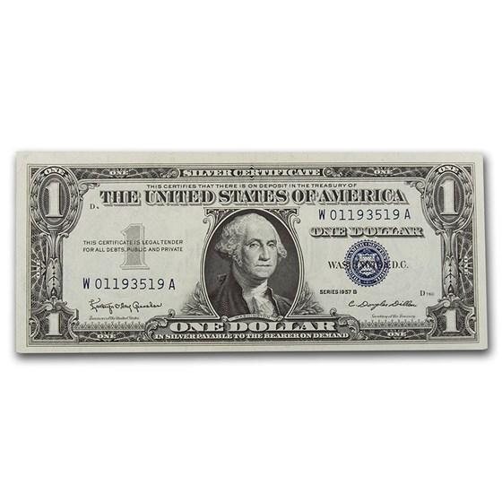 1957s $1.00 Silver Certificate CCU