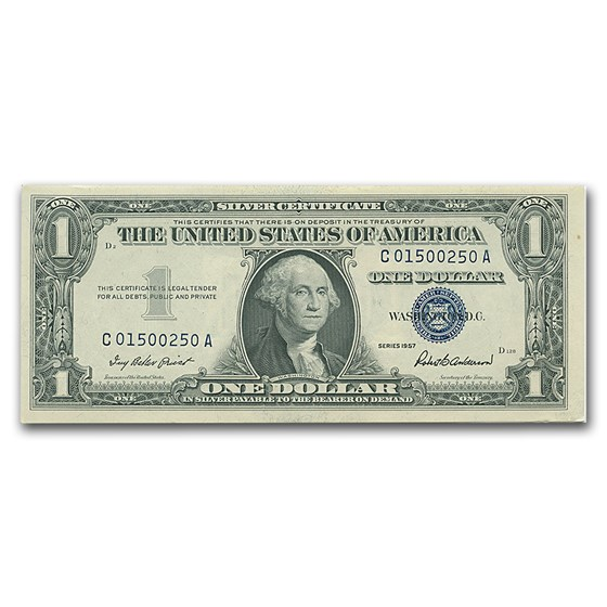 1957s $1.00 Silver Certificate VG/VF