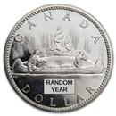 1958-1967 Canada Silver Dollar BU (.800 Fine)