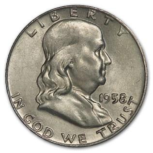 1958-D Franklin Half Dollar Fine/AU