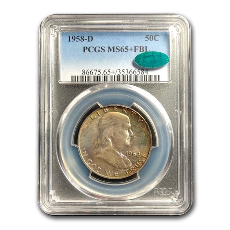 1958-D Franklin Half Dollar MS-65+ PCGS CAC (FBL)