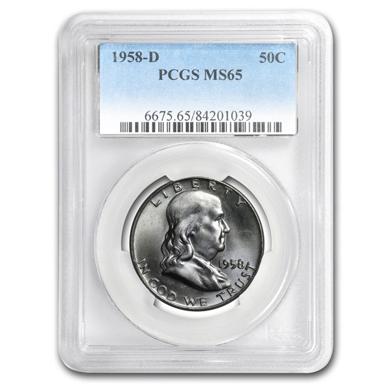 1958-D Franklin Half Dollar MS-65 PCGS