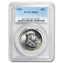 1958 Franklin Half Dollar MS-66 PCGS