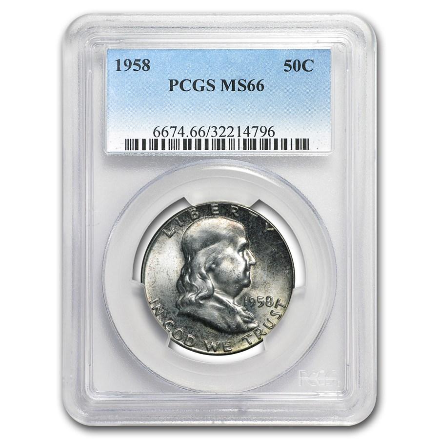 1958 Franklin Half Dollar MS-66 PCGS