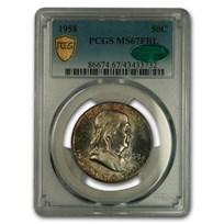 1958 Franklin Half Dollar MS-67 PCGS CAC (FBL)