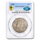1958 Franklin Half Dollar MS-67+ PCGS CAC (FBL)