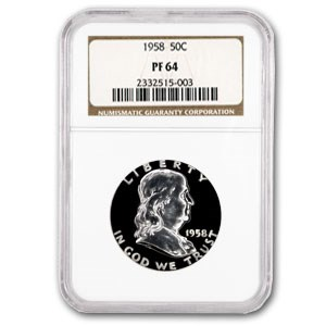1958 Franklin Half Dollar PF-64 NGC