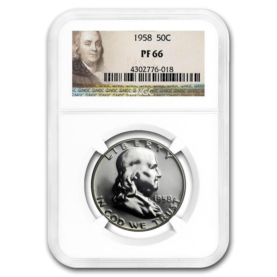 1958 Franklin Half Dollar PF-66 NGC