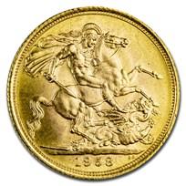 1958 Great Britain Gold Sovereign Elizabeth II BU