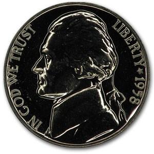 1958 Jefferson Nickel Gem Proof