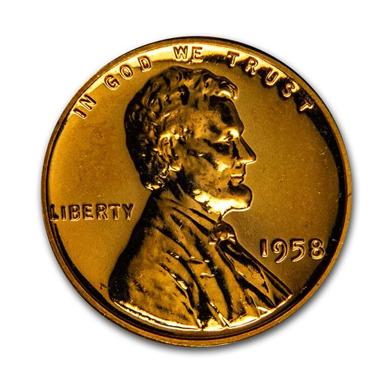 1958 Lincoln Cent Gem Proof (Red)