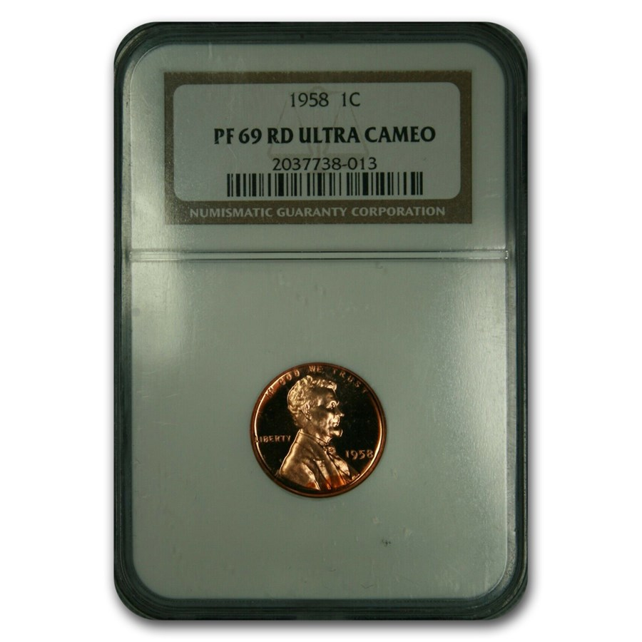1958 Lincoln Cent PF-69 UCAM NGC (Red)