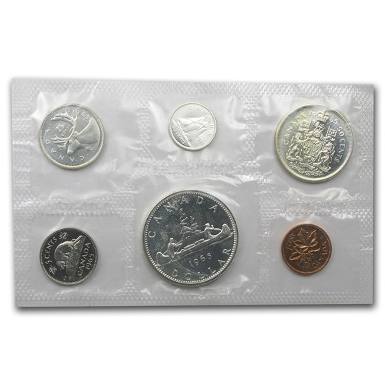 1959-1966 Canada 6-Coin Silver Prooflike Set (1.11 ASW)