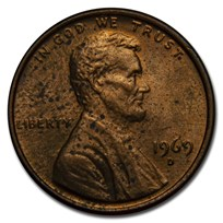 1959-1982 Copper Lincoln Memorial Cent BU (Impaired)