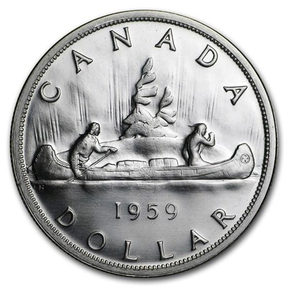 1959 Canada Silver Dollar BU/Prooflike