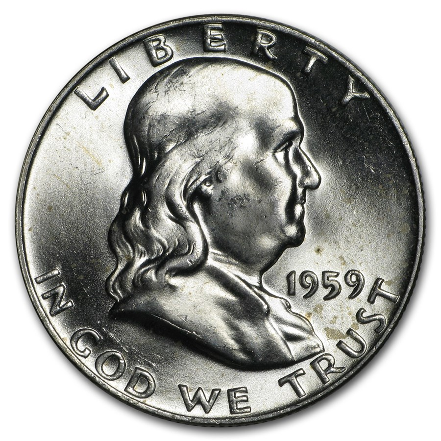 1959-D Franklin Half Dollar BU