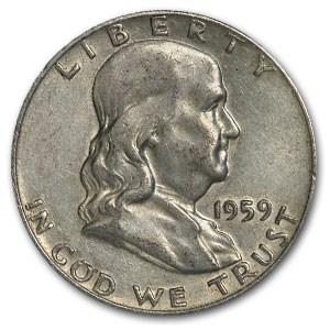 1959-D Franklin Half Dollar Fine/AU