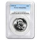 1959-D Franklin Half Dollar MS-64 PCGS (FBL)