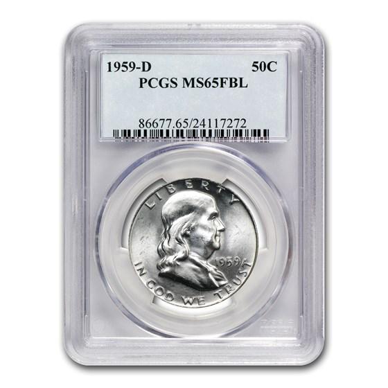 1959-D Franklin Half Dollar MS-65 PCGS (FBL)
