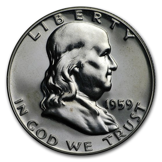 1959 Franklin Half Dollar Gem Proof
