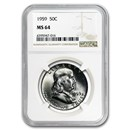 1959 Franklin Half Dollar MS-64 NGC