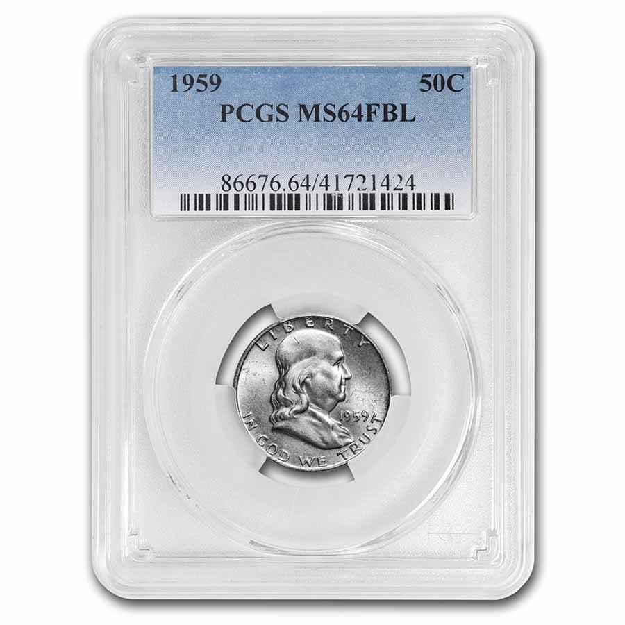 1959 Franklin Half Dollar MS-64 PCGS (FBL)
