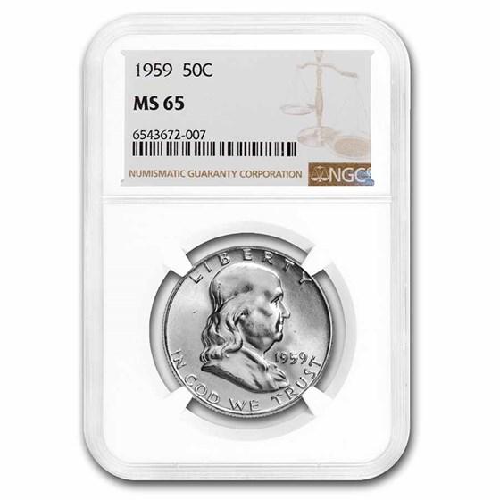 1959 Franklin Half Dollar MS-65 NGC
