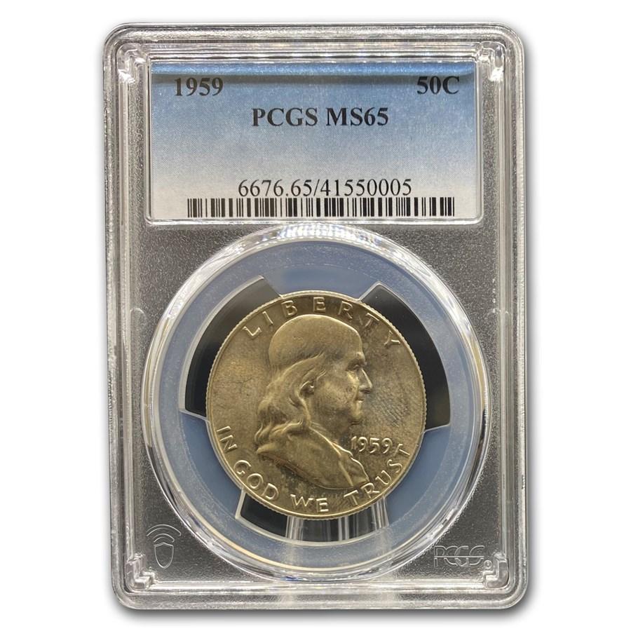 1959 Franklin Half Dollar MS-65 PCGS
