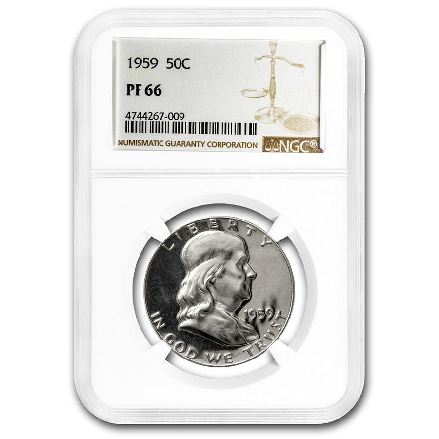 1959 Franklin Half Dollar PF-66 NGC