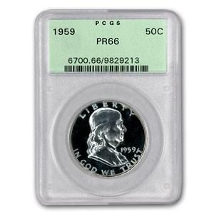 1959 Franklin Half Dollar PR-66 PCGS