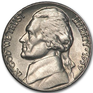 1959 Jefferson Nickel BU