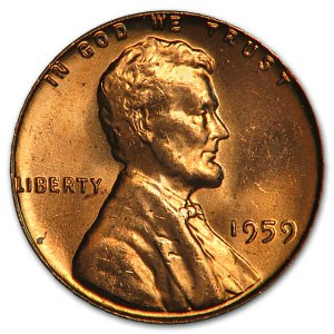1959 Lincoln Cent BU (Red)