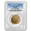 1959 Mexico Gold 20 Pesos MS-70 PCGS (New Dies Restrike)