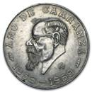 1959 Mexico Silver 5 Pesos Carranza XF-AU