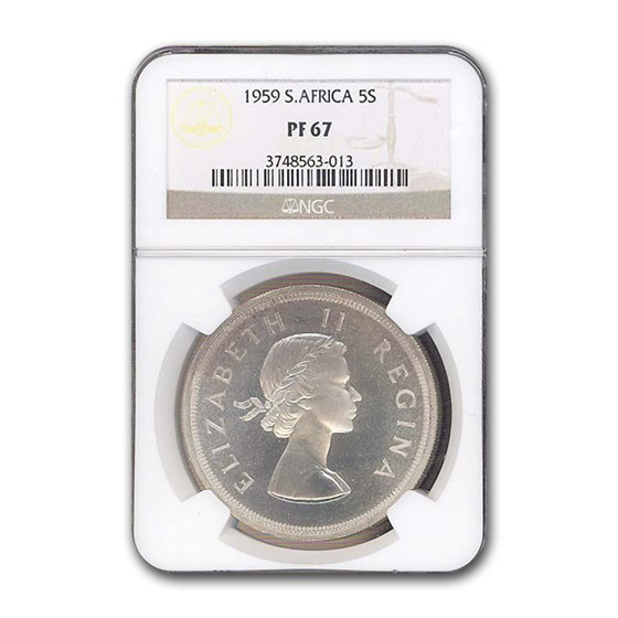 1959 South Africa 5 Shillings PF-67 NGC