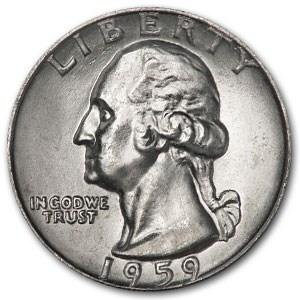 1959 Washington Quarter BU
