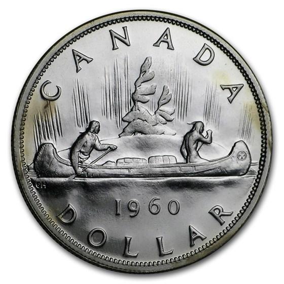 1960 Canada Silver Dollar BU/Prooflike